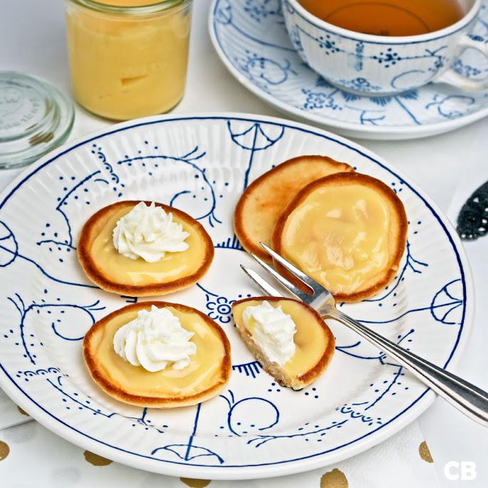 High tea pannenkoekjes met orange curd en een toefje room