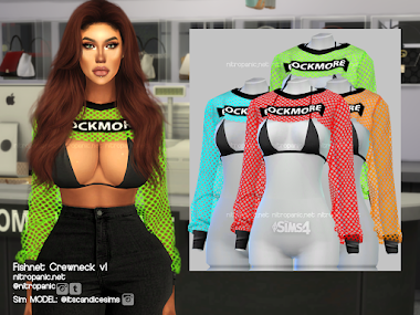 Fishnet Crewneck v1 for The Sims 4