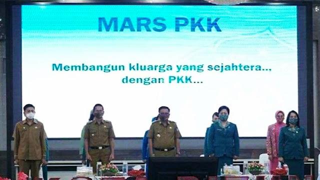 Ketua TP PKK Bitung , Ajak  Kader PKK  Jadi Garda Terdepan