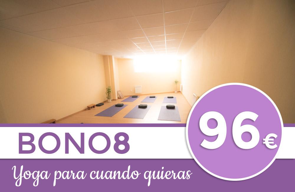 Bono de ocho clases de yoga