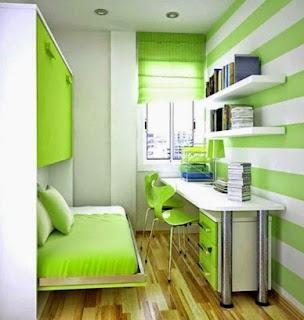 Warna cat untuk kamar tidur sempit minimalis