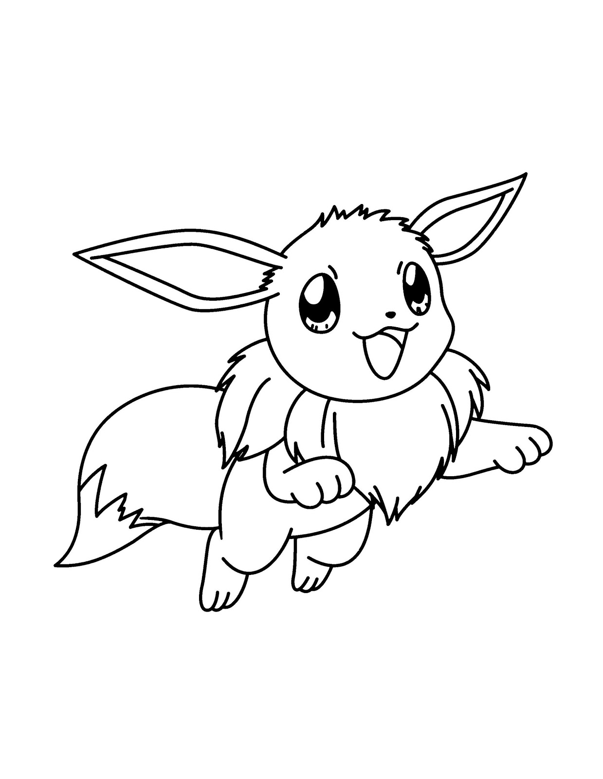 Eevee Coloring Pages Printable Free Pokemon Coloring Pages