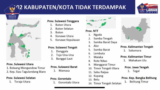 Daftar Kabupaten dan Kota Yang Masuk Dalam Zona Hijau Covid-19, Bersiap Terapkan New Normal