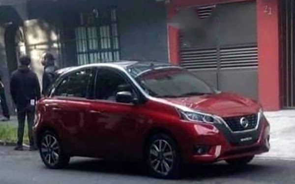 Novo Nissan March 2021 com facelift é flagrado no México