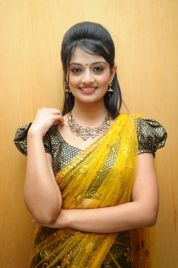 Lovely cute Nikitha narayana hot photos in half saree at varna audio launch