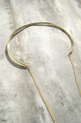 Collier Cylinder laiton brut Soko