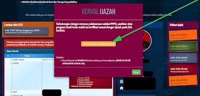 Cara Verval Ijazah di InfoGTK untuk Seleksi PPPK