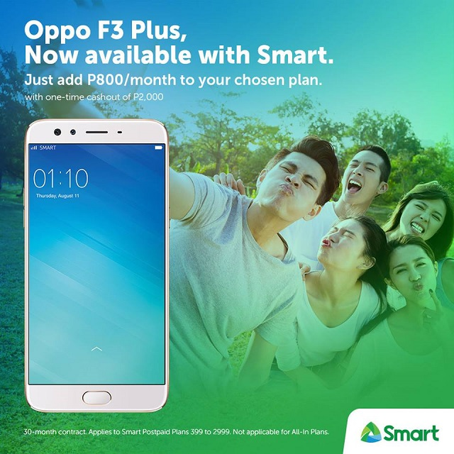 Oppo F3, F3 Plus now available in Smart