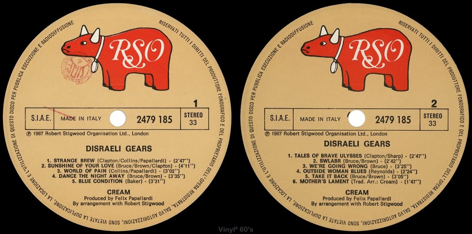 1967 Disraeli Gears - Cream - Rockronología