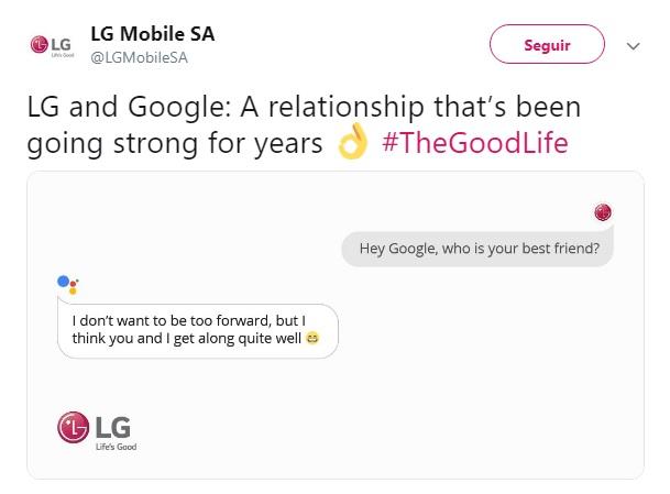 LG tira sarro da Huawei no Twitter e depois apaga