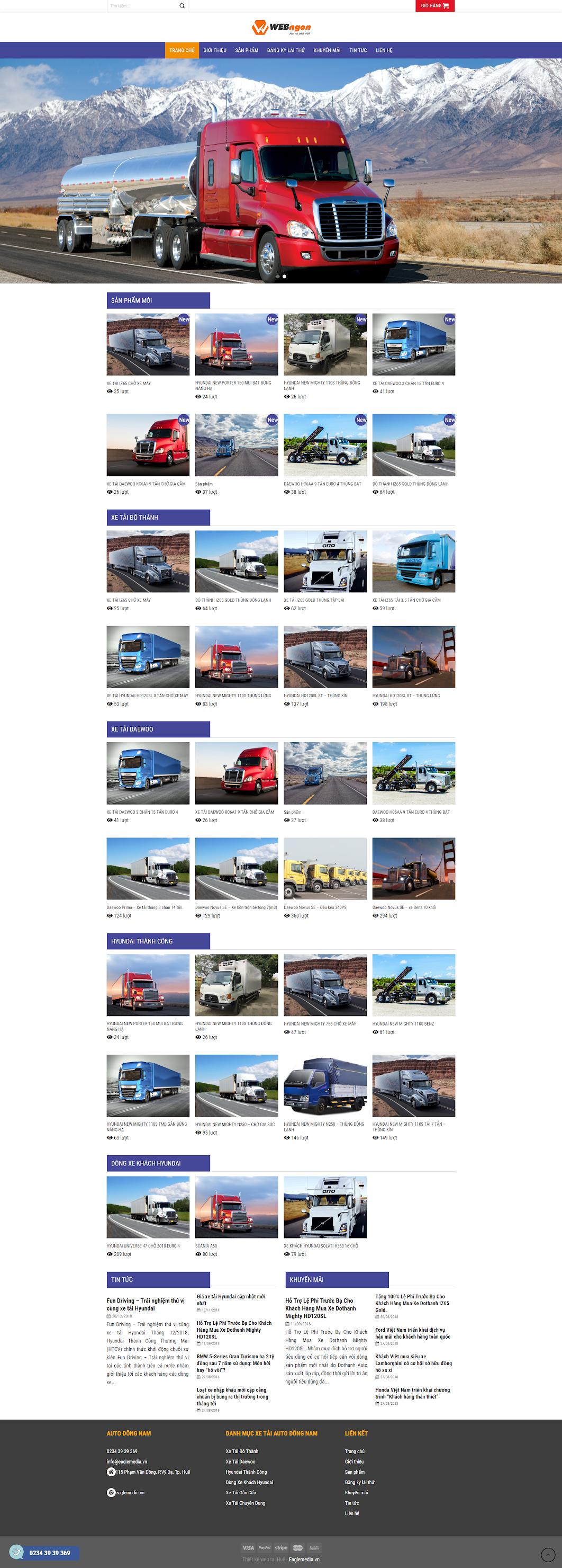mẫu xe tải wn024