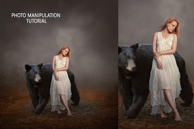The Bear and Girl Photo Manipulation/ Photoshop Tutorial