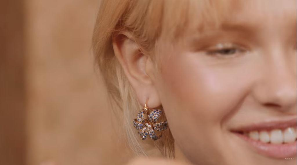 modello modella testimonial gucci gioielli jewelery spot 2016