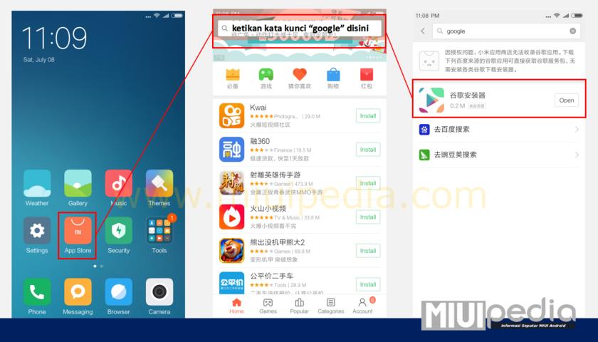 cara install google play store di ROM Cina Xiaomi
