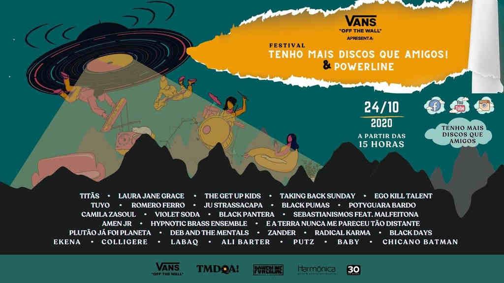 Vans apresenta Festival Tenho Mais Discos Que Amigos! e Powerline