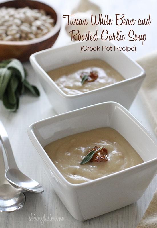 Tuscan White Bean & Roasted Garlic Soup