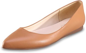 50%OFF Leather Women's Flat Shoes Classic Casual Pointed Toe Ballet Flats Shoes for Women