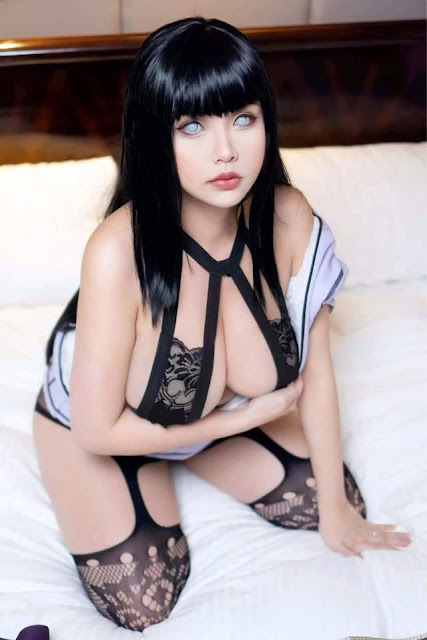 Cosplay Girls, Naruto, big boobs, brunette, asian girl