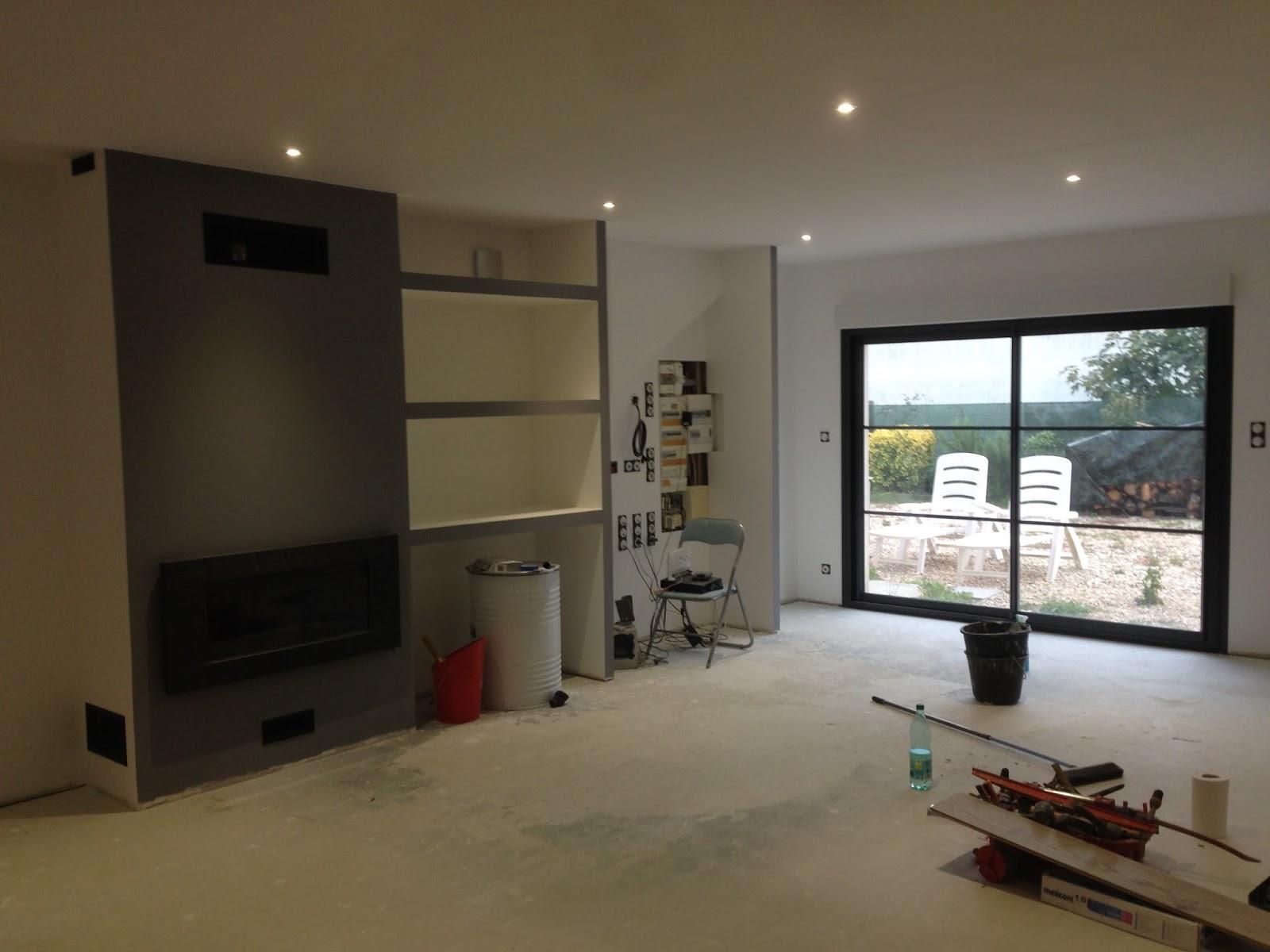 notre projet salon salle manger peintures radiateurs. Black Bedroom Furniture Sets. Home Design Ideas