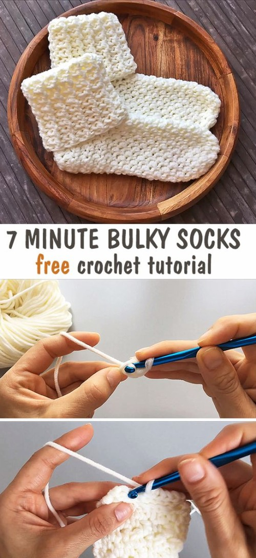 Bulky Socks - Free Crochet Tutorial