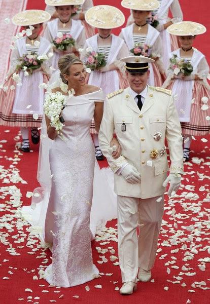 noivos alberto do monaco e charlene1 - Casamento Real - Principe Alberto ♥ Charlene Wittstock