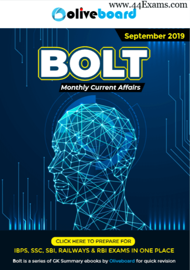 Bolt-Current-Affairs-September-2019-For-All-Competitive-Exam-PDF-Book