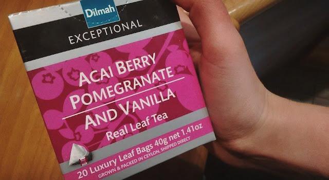 Cejlońska herbata z granatem, acai i wanilią (Dilmah) - recenzja