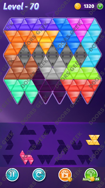 Block! Triangle Puzzle Grandmaster Level 70 Solution, Cheats, Walkthrough for Android, iPhone, iPad and iPod