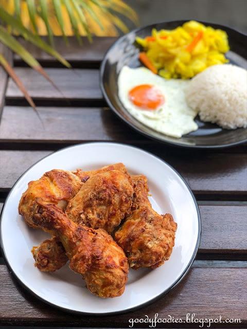 crispy mamak-style air fried chicken drumsticks