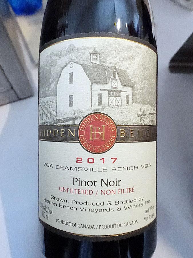 Hidden Bench Estate Organic Pinot Noir 2017 (91 pts)