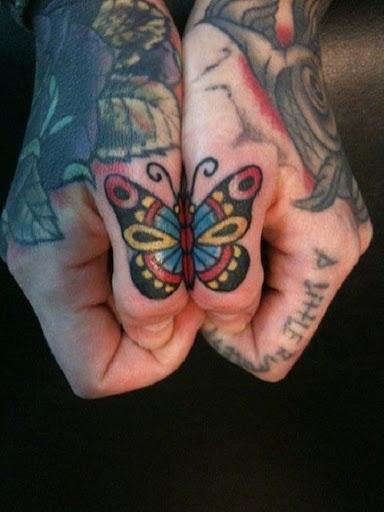 Pequena Borboleta Melhor Amigo Tatuagens