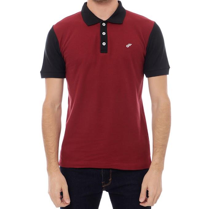 Polo Shirt Premium BlackOut Maroon