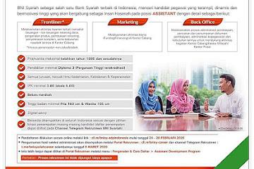 Lowongan Kerja Bandung Karyawan BNI Syariah Bandung