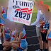 High school cheerleading squad on probation for the rest of the year for holding a Trump 2020 banner
