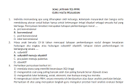 Soal Latihan Tes PPPK Guru Mata Pelajaran (SMP)