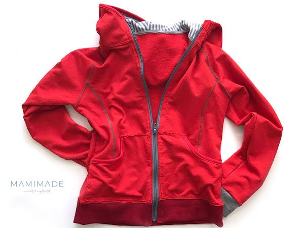 Sweatjacke in rot - Wie entsteht so ein Kleidungsstück? - und -  Warum ist es so beliebt?