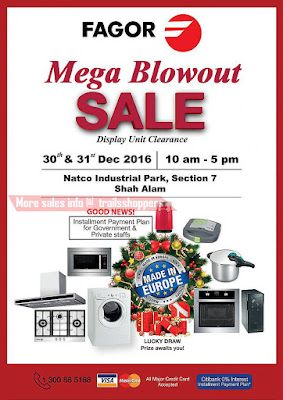 Fagor Mega Blowout Sale 2016