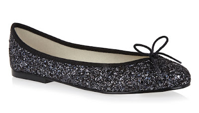 french sole india black glitter