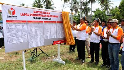 Bawaslu Kota Pariaman Launching Lapau Pengawasan Partisipatif (LPP) di Desa Sikabu