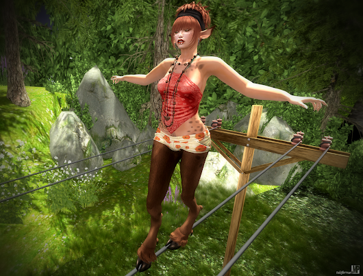 @Melroo's Place: Second Life. Fantasy. Role-play. Fashion.: One big ol' balancing act....