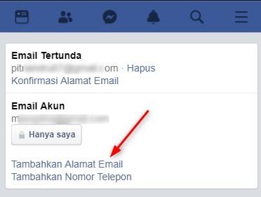 Mengubah Email Facebook