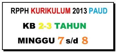 RPPH PAUD Usia 2-3 Tahun Semester 2 Tema Transportasi Kurikulum 2013