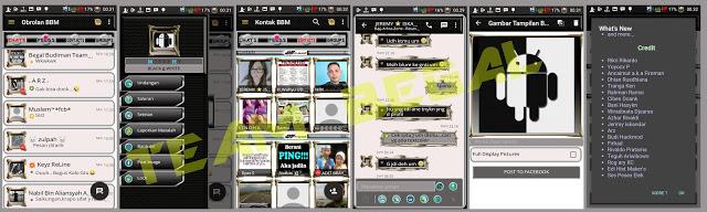 BBM MOD Black White versi Terbaru 3.0.0.18 dan Versi lama