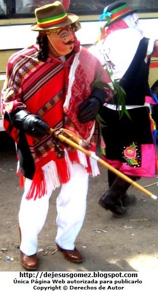 Foto de un boliviano de la Tunantada en Huaral. Foto del Boliviano de Jesus Gómez