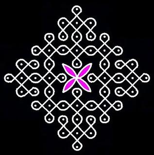 colourful dot rangoli for diwali