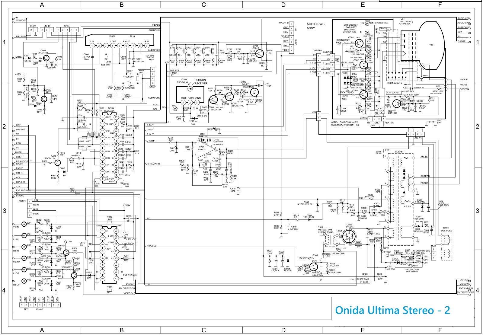 Onida Ultima Chassis Crt Tv Circuit Diagram Channel