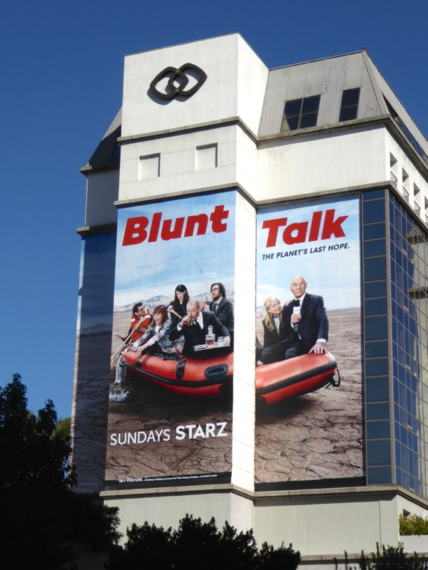Giant Blunt Talk season 2 billboard