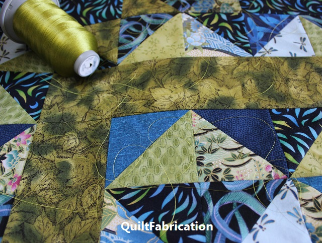 Use It Up quilt with Split Pea Glide thread