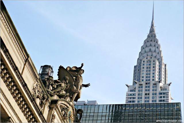 Grand Central Station y el Chrysler Building, Nueva York
