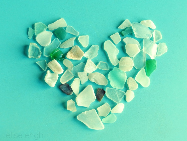 Valentine's Heart Photography- sea glass- Grow Creative
